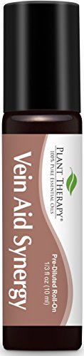 (Plant Therapy Vein Aid Synergy Pre-Diluted Roll-On 10 mL (1/3 fl oz) 100% Pure, Therapeutic Grade)