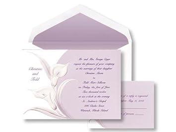 Amazon Purple Calla Lilly Wedding Invitation Health