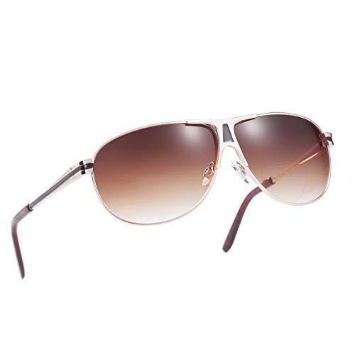 1a9e468d39e Bifocal Aviator Sunglasses Readers for Women Men Outdoor Reading Sunglass  UV400 by O-LET (