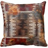 Native American Indian And Cowhide Print