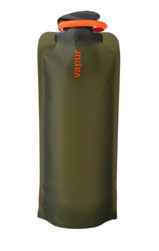 Vapur 10209 - Eclipse 0.7L Foldable Flexible Water Bottle w/ Carabiner (Olive) (3 Way Rule)