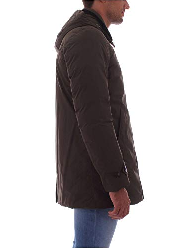 Coat Giubbotto City Wocps2702 Green Dark Uomo Woolrich Blu vqwUOETT