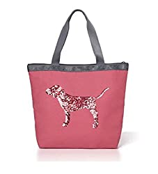 PINK Sequin Zipper Tote Bag