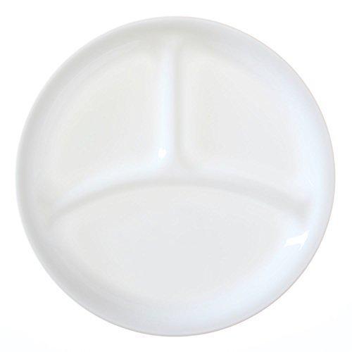 Corelle Livingware set of 4 8-1/2-Inch Divided Dish, Winter Frost White