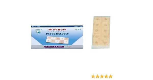 Agujas permanentes 0,26 x 1,4 mm, auriculoterapia Shenzhou