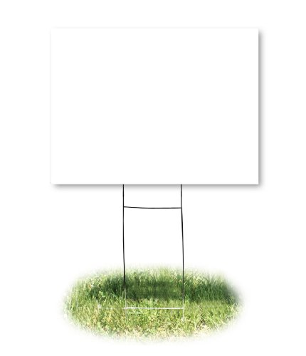 Headline Sign 4781 Yard Sign, Blank, White, 18 Inches by 24