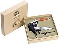 LAGUIOLE - Sacacorchos con Palanca - Aluminio y Madera - Con espiral de repuesto - Caja de regalo - metal