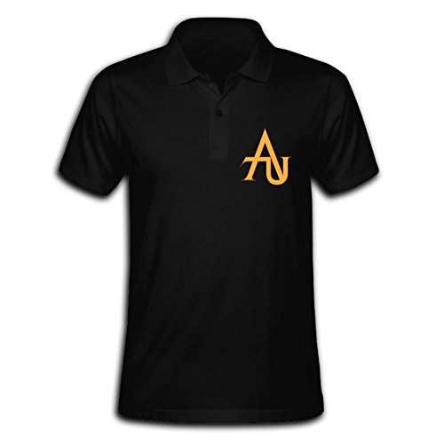 Men's Adelphi University Embroidery Polo Shirts With Short Sleeve