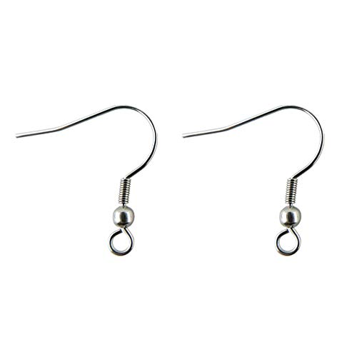 COIRIS 100 Pairs Stainless Steel Earwires French Earring Hooks/Dangle Earring Findings Jewelry Making DIY (100 Pairs, Stainless Steel)