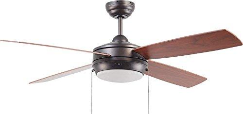 Ellington Blade 52 - Craftmade LAV52ESP4LK Ceiling Fan with Blades Included, 52