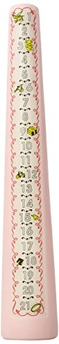 Celebration Candles 1-21 Year Numbered Birthday Candle, Pink by Celebration Candles