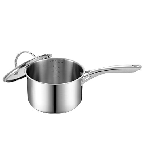 Stainless Steel 3-QT Sauce Pan with Cover by Cooks Standard