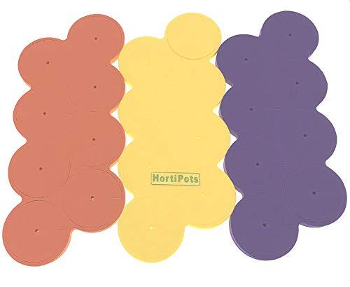 Neoprene Collars, Neoprene Inserts for 3 inch Net Pots Purple Orange Yellow Pack of 24