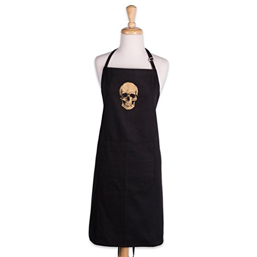 DII Cotton Halloween Holiday Kitchen Apron with Extra Lon...