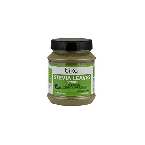Stevia Leaf Powder (Stevia Rebaudiana) - Unprocessed Stevia Sugar ǀ Helps to Control Blood Sugar and Blood Pressure Level ǀ Natural Alternative to Processed Sugar ǀ (3.5 Oz / 100g) -