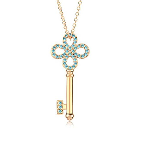 winters-secret-champagne-gold-plated-austrian-crystal-necklace-the-memory-key-blue-diamond-accented