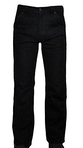 Trachtenhose Men's Buff Nubuck Leather Pants 39 W Black