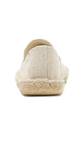 Soludos Women's Wink Embroidered Smoking Slipper, Sand, 8 B US