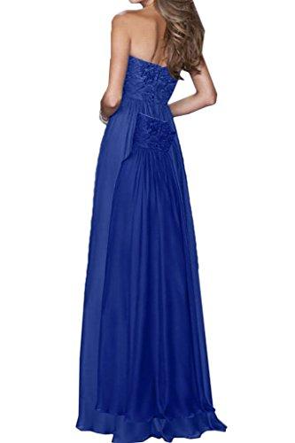 Party Abito ivyd a abito sera abito cuore Prom Fest royal linea ressing blu da vestito Chiffon moda da scollo Pizzo a alla donna qawOx4Sq
