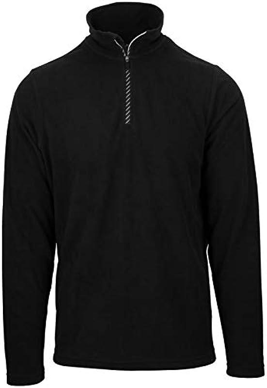 Starling męski sweter z polaru, czarny - l: Sport & Freizeit