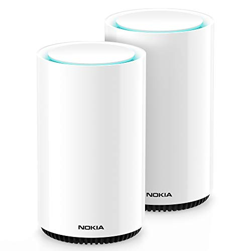 Nokia WiFi Beacon 3 Mesh Router System - Intelligent, Seamless Whole Home WiFi Coverage Extender - Connect Your Whole House WiFi Network, Ultra Fast Self-Healing Mesh Router System - Duo (2-Pack)