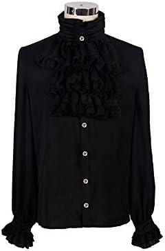 Nueva ropa de hombre punk, camisa delgada de hombre, camisa de marea de cuello alto,negro,L: Amazon.es: Bricolaje y herramientas