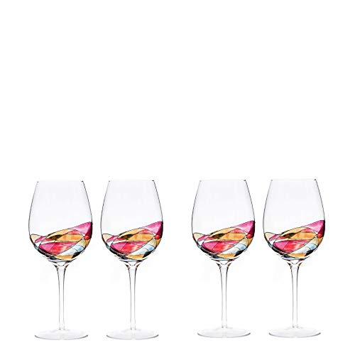 (Large Wine Glasses 29Oz RED Set 4 ANTONI BARCELONA)