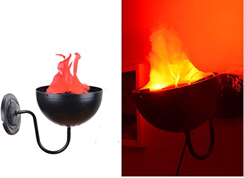 TOPCHANCES Electric LED Flamsee 3D Fake Fire Lamp Eeffect Torch Light for Halloween Xmas Party Decor Holiday Supplies (Wall-Mounted Lamp) ()