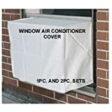 Window Air Conditioner Cover - Window/thru Wall - 2PC SET - Outdoor/Indoor - 27W, 18H, 22D and 27W, 18H, 4D - White