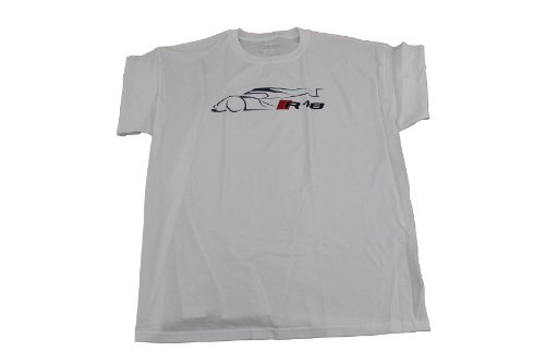 "Genuine Audi Accessories AWM918-xxl White XX-Large ""R18"" T-Shirt"