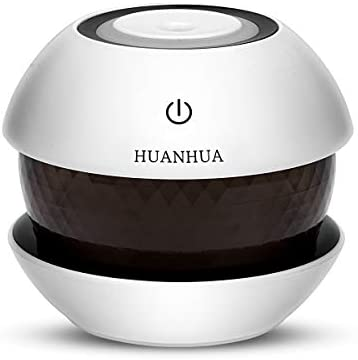 HUANHUA Portable Mini Cool Mist Humidifier, Light Color Change Baby Vaporizer with Adjustable Mist Mode, Auto Shut-Off, Colorful Night Light Function for Home Office car 150ml Black