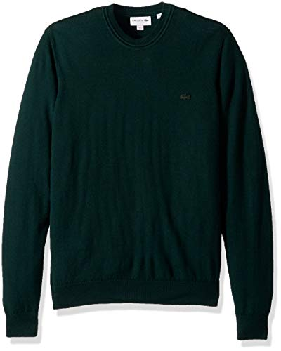 Lacoste Men's Classic Lambswool Crewneck Sweater w/Tonal Croc-AH2997, Sinople, XX-Large ()