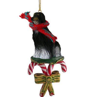 Afghan Hound Stocking Holder Hanger Black