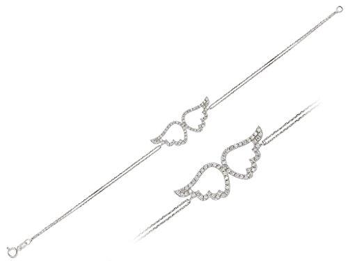 Bracelet Ailes d'Ange Diamants-Femme- or Blanc 214B0010