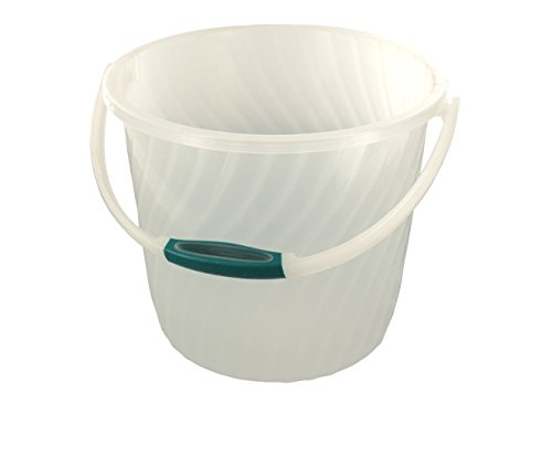 Plastic Bucket With Anti-Slip Swivel Handle - Pack of 4