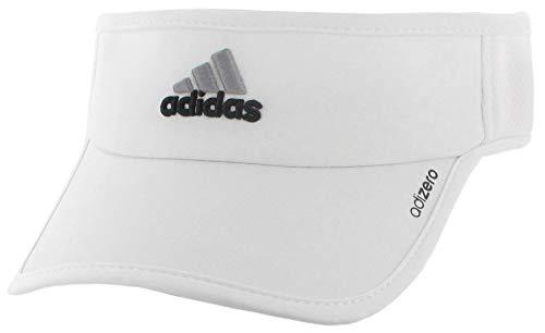 adidas Womens Adizero II Visor, White/Black/Platinum, ONE SIZE