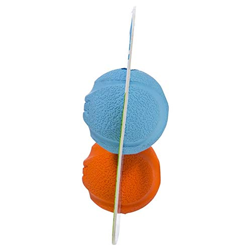 Chuckit! Fetch Dog Ball High-Bounce Rubber, Assorted Colors, Various Sizes, 2-Packs