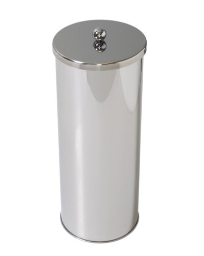 Dispenser Mounted Canister Wall - Zenna Home 7666ST, Toilet Paper Canister, Polished Stainless Steel