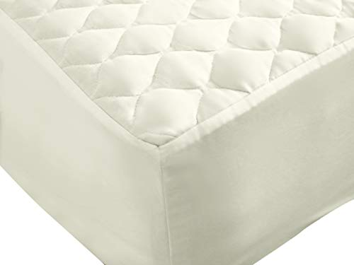 Whisper Organics 100% Organic Cotton Quilted Mattress Cover, 17