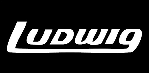 All About Families Ludwig Drums ~ White ~ Window Sticker/CAR/Truck/RV/Boat with Alcohol PAD~ Size 8