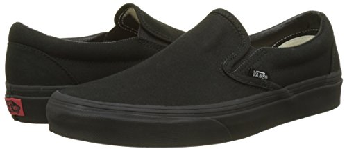 Vans Classic Slip-On Shoes (12 B(M) US Women/10.5 D(M) US Men, Black/Black)