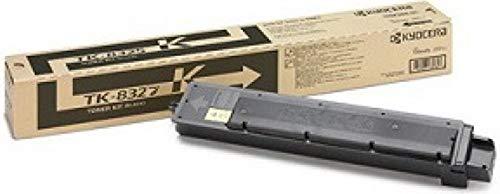 Kyocera 1T02NP0US0 Model TK-8327K Black Toner Cartridge For use with Kyocera TASKalfa 2551ci Color Multifunction Printer, Up to 18000 Pages Yield at 5% Average Coverage
