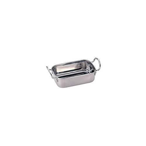 American Metalcraft MRPS45 American Metalcraft MRPS45 Mini Roasting Pan, Stainless Steel, 14 oz. Capacity, 1-3/4'' Height, 4-1/2'' Width, 4-1/2'' Length, Stainless Steel, by American Metalcraft