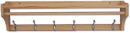 ZEMIN コートラック ウォールマウントコートラック服スタンドハンガーホルダーデコレーションシェルフフックポールソリッドウッド、3色、3サイズあり (色 : ログの色, サイズ さいず : 79.5*20*15CM)