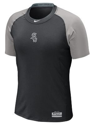 ae7840659 Nike Chicago White Sox MLB Pro Combat Core 1.2 Performance Dri-FIT Fitted T-