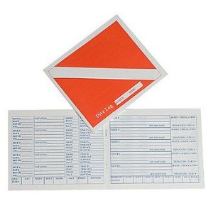 (Trident New Scuba Diving Log Book - Red Diver Down Flag)