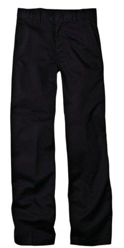 Dickies Big Boys' Flex Waist Flat Front Pant, Black, 16 Regular Flex Waist Flat Front Pant