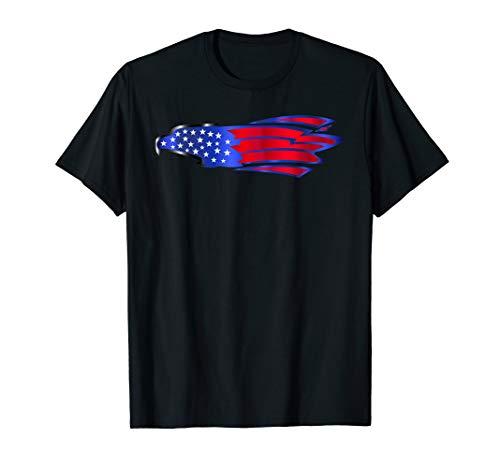 USA Flag Eagle T Shirt 4th July Red White Blue Stars Stripes -