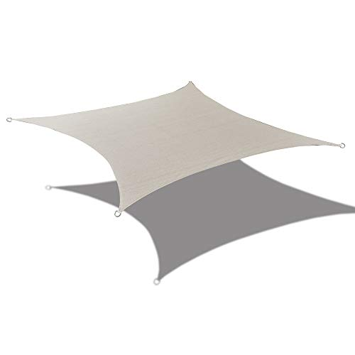 Alion Home HDPE UV Block Sun Shade Sail Permeable Canopy – Square and Rectangle – Custom 185GSM 8 x 14 , Smoke Grey
