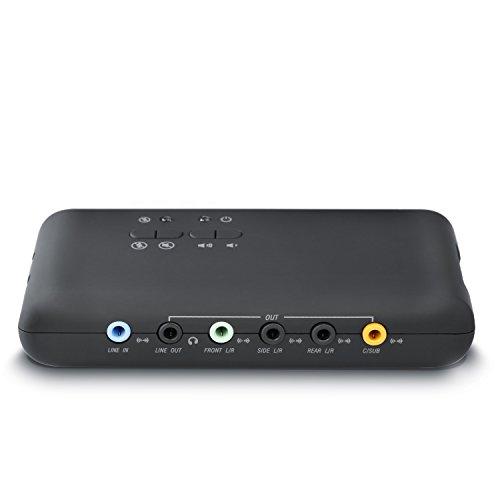 CSL - USB 7.1 Soundkarte extern (8-Kanal)   7.1 Channel USB Soundbox   Dynamic 3D Surround Sound   für bis zu 8 Lautsprecher   gleichzeitige Aufnahme und Wiedergabe   analoge und digitale Audiogeräte   Farbe: schwarz